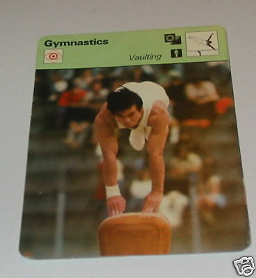 Gymnastics - Vaulting SC Collector card