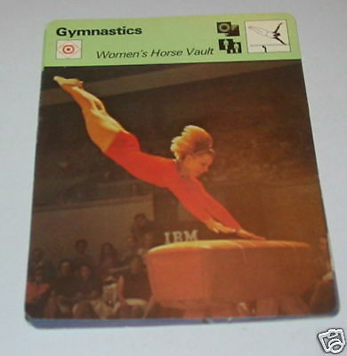 Gymnastics - womens horse vault SC Collector card