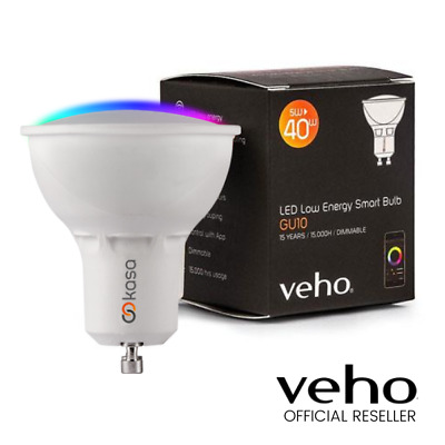 Genuine Veho Kasa Bluetooth Smart Led Smartphone Controlled Lightbulb Spotlight