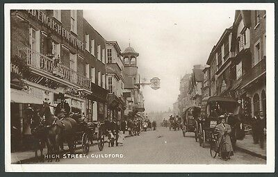 Guildford Surrey High Street 1907 Boots Real Photo Postcard