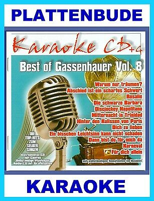 KARAOKE CD: BEST OF GASSENHAUER Vol.8 u.a. FLIPPERS * KRISTINA BACH * NEU & OVP