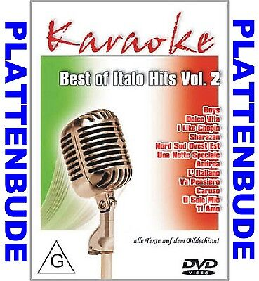 KARAOKE DVD: BEST OF ITALO HITS Vol.3 ua. UMBERTO TOZZI * SABRINA * RYAN PARIS