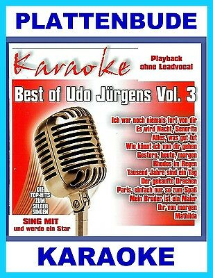 KARAOKE CD * BEST of  UDO JÜRGENS Vol.3  u.a. ALLES WAS GUT TUT * MATHILDA * NEU