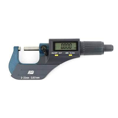 "0-1""/0.00005"" Digital Electronic Outside Micrometer Carbide Tip Large LCD EDM-1"