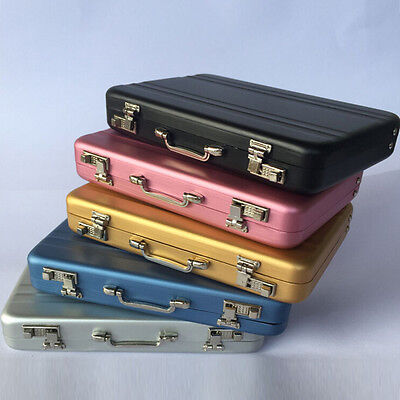 Fashion Aluminum Organizer Briefcase Business Card Credit Card Holder Case Boxes