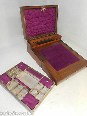 Antique  inlaid Writng Slope / Sewing Box   ref2800