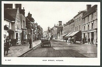 Hitchin Hertfordshire High Street Vintage WHS Kingsway Real Photo Postcard