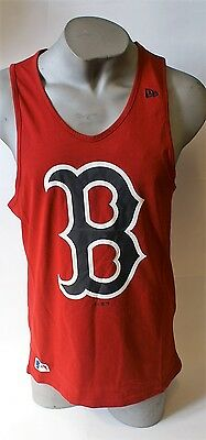New Era MLB Boston Red Sox Team App Red Logo Men's Tank Muscle Vest Top