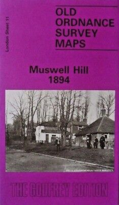 Old Ordnance Survey Detailed Maps Muswell Hill  London 1894 Godfrey Edition New