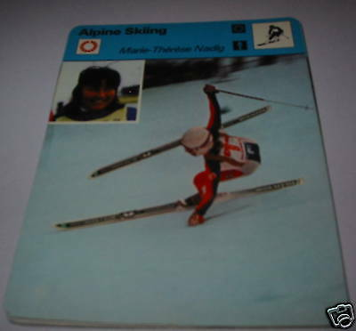 Marie-therese Nadig - Alpine skiing SC Collector card