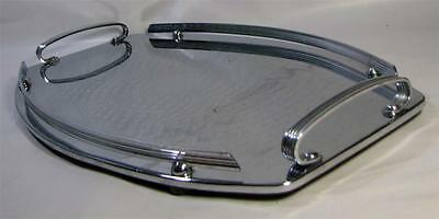 Vintage Ranleigh Drinks Serving TRAY Chrome / Stainless Steel - Oval