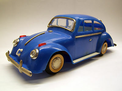 VW Käfer, 20 cm, sehr seltenes Modell, Kunststoff, blau, Made in China, 1960er