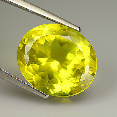 9.05 Ct Natural Unheated Yellowish Green APATITE Oval Gem @ See Video !!