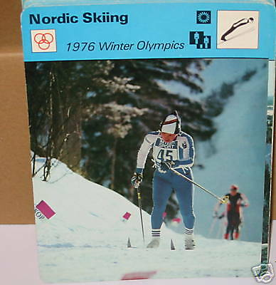 Nordic Skiing 1976 Olympicswinter sports Collector card