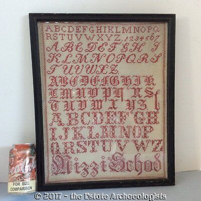 Old Hand Stitched ALPHABET SAMPLER