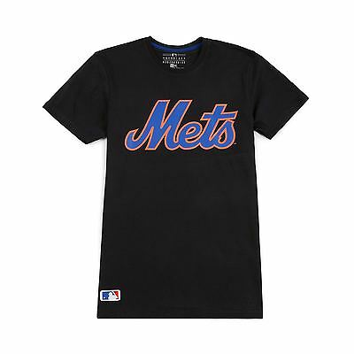 New Era MLB New York Mets Logo Shirt Team Apparel Black Men's Crew Neck T-Shirt