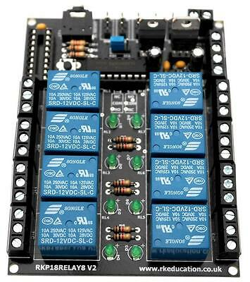 Rk Education - RKP18RELAY8 KIT - 8x Spco Relay Pcb For Picaxe and Genie