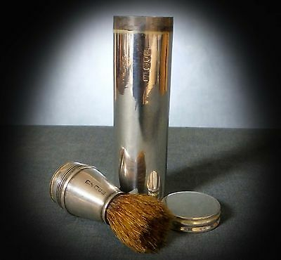 WONDERFUL HALL-MARKED STERLING SILVER SHAVING KIT by CHARLES FOX LONDON 1899