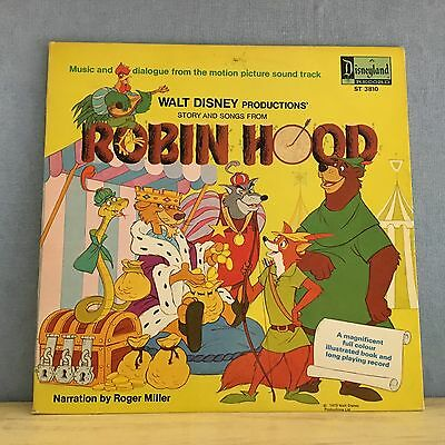 DISNEY Robin Hood Story and Songs 1973 UK Vinyl LP + BOOKLET EXCELLENT CONDITION