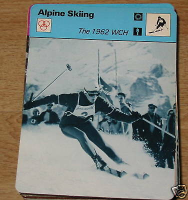 Alpine Skiing - The 1962 WCH Marianne SC Collector card