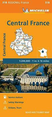 Michelin Regional Maps: France: Central France Map 518 by Michelin Travel & Life