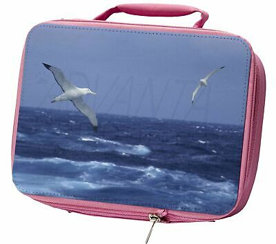 Sea Albatross Flying Free Insulated Pink School Lunch Box Bag, AB-106LBP