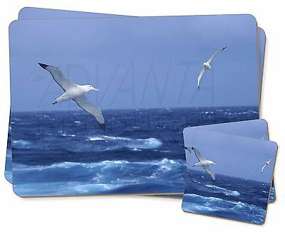 Sea Albatross Flying Free Twin 2x Placemats+2x Coasters Set in Gift Bo, AB-106PC