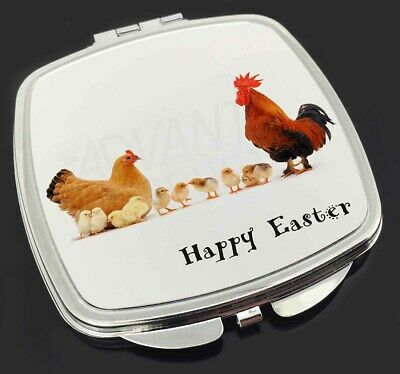 Hen, Chicks, Happy Easter Make-Up Compact Mirror Stocking Filler Gif, AB-107EACM
