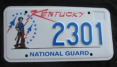 "Kentucky   License Plate "" 2301  ""  National Guard Military Army Air Force Ky"