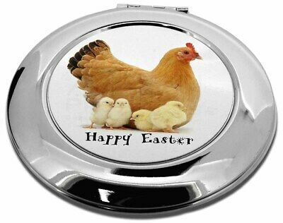 Hen with Chicks 'Happy Easter' Make-Up Round Compact Mirror Christm, AB-109EACMR
