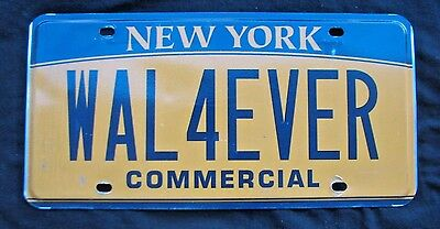 "Graphic Vanity  License Plate "" Wal 4 Ever""  Wall Forever Empire State"