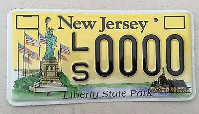 "New Jersey Mint Sample License Plate ""ls 0000"" Liberty State Park Statue Liberty"