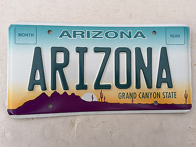 "Arizona Mint  Sample License Plate Embossed "" Arizona ""  Az Grand Canyon State"
