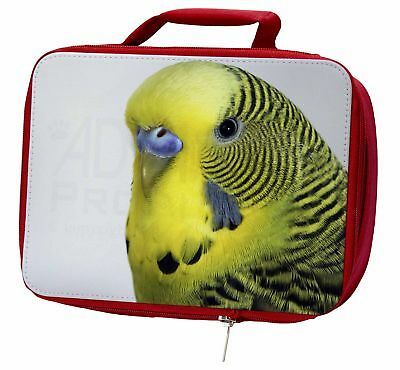 Yellow Budgerigar, Budgie Insulated Red School Lunch Box/Picnic Bag, AB-51LBR