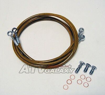 Streamline Braided Front Brake Lines SILVER Yamaha Raptor 350 85 86 87 88 89