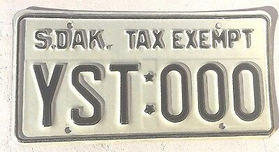 "South Dakota Yankton Sioux Indian Tribe Sample License Plate "" Yst 000 "" Sd"