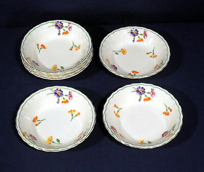 "Vintage Grindley China The Primula 7 Fruit Bowls 5-1/8"" Excellent Condition"