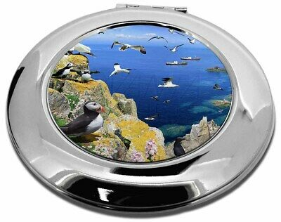 Puffins and Sea Bird Montage Make-Up Round Compact Mirror Christmas Gi, AB-93CMR