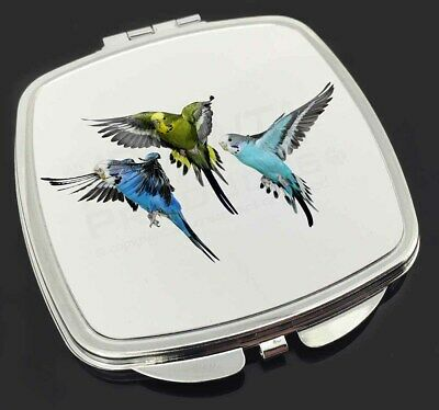 Budgerigars, Budgies in Flight Make-Up Compact Mirror Stocking Filler G, AB-94CM
