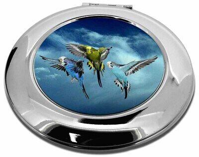 Budgies in Flight Make-Up Round Compact Mirror Christmas Gift, AB-96CMR