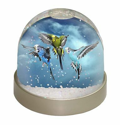 Budgies in Flight Photo Snow Globe Waterball Stocking Filler Gift, AB-96GL
