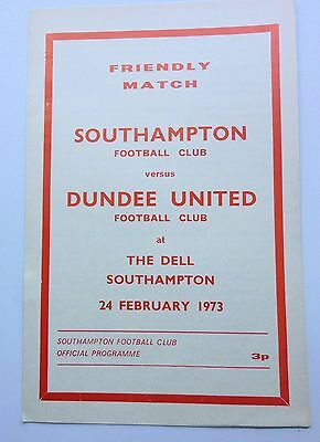 SOUTHAMPTON v  DUNDEE UTD FRIENDLY MATCH 1973  THE DELL