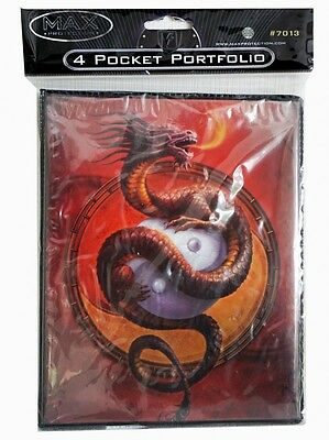 Max Protection 4-Pocket Portfolio: Protector o.t. Wudang Dragon Album Ordner TCG