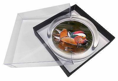 Lucky Mandarin Duck Glass Paperweight in Gift Box Christmas Present, AB-DU72PW