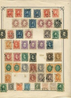 BRAZIL  1860s-70s early classic Dom Pedro issues fine used LOT of values