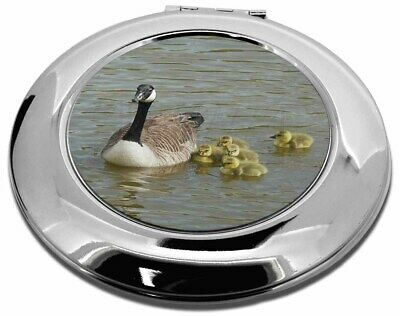 Canadian Geese and Goslings Make-Up Round Compact Mirror Christmas Gif, AB-G1CMR
