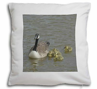 Canadian Geese and Goslings Soft Velvet Feel Cushion Cover With Inner, AB-G1-CPW