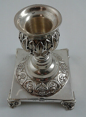 1 single Candle holder - TITULO Sterling Silver - Made in Portugal - 142 grams