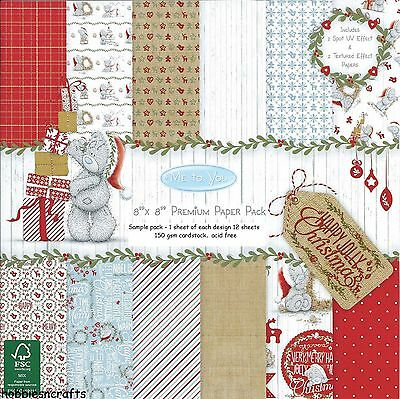 Dovecraft Me To You Happy Jolly Christmas 8 X 8 Sample Paper Pack 12 Sheets New