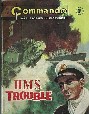 H.m.s. Trouble,commando War Stories In Pictures,no.438,war Comic,1969